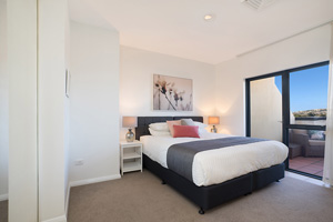 The Third Bedroom of the Three Bedroom Apartment at Boulevard Apartments.