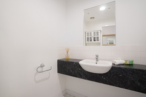 The Third Toilet of the Three Bedroom Apartment at Boulevard Apartments.