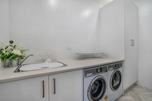 The Fully Equipped Laundry at Civic Park Apartments