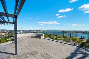 The View from the Rooftop Terraces at The Herald Apartments.