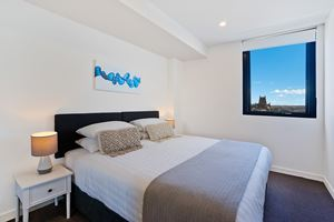 The Main Bedroom of Horizon 2 Bedroom Apartment at Newcastle Beach