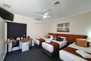 The three Single Beds within the Triple Share Rooms.