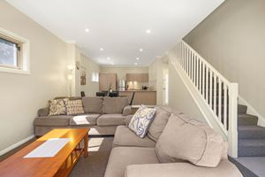 The Living Room of a 2 Bedroom Townhouse Apartment at Birmingham Gardens Townhouses.