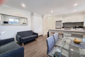 The Living Room of a 3 Bedroom Townhouse Apartment at Birmingham Gardens Townhouses.