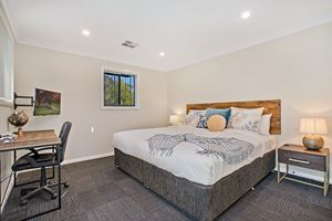 The Master Bedroom of a 5 Bedroom Townhouse Apartment at Birmingham Gardens Townhouses.
