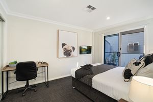 The Second Bedroom of a 5 Bedroom Townhouse Apartment at Birmingham Gardens Townhouses.