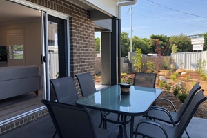 The Private Courtyard of a 3 Bedroom Townhouse Apartment at Adamstown Townhouses.