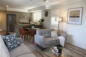 The Living Room of a 3 Bedroom Townhouse Apartment at Adamstown Townhouses.