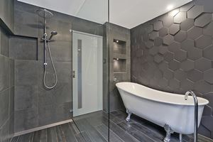 The Main Bathroom of Glebe Road Adamstown.